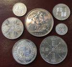 Англия 0887г. KM# 058-765 • 0 пенса - куща Юбилейный набор(7 монет) гессит • UNC-MS BU