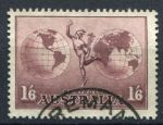 АВСТРАЛИЯ 1934г. GB# 153a / 1s.6d. / USED F-VF / КАРТЫ