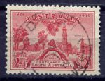 АВСТРАЛИЯ 1936г. GB# 161 / 2d. / USED F-VF / АРХИТЕКТУРА