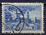 АВСТРАЛИЯ 1936г. GB# 162 / 3d. / USED F-VF / АРХИТЕКТУРА