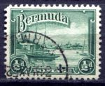 БЕРМУДА 1936-47гг. SC# 105(GB# 098) / 1/2d. / USED F-VF / ПАРУСА