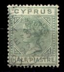 КИПР 1882-94гг. SC# 19 / 1/2 pi. / USED F-VF / QV