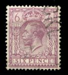 ВЕЛИКОБРИТАНИЯ 1924-6гг. GB# 426 / 6d. / USED F-VF
