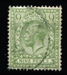 ВЕЛИКОБРИТАНИЯ 1924-6гг. GB# 427 / 9d. / USED F-VF