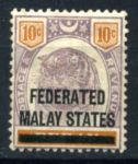 Малайзия Федерация 1900 г. GB# 10 • 10c. • MH OG F-VF (кат. -  £80.00)
