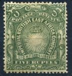 Британская восточная Африка 1890-5гг. GB# 19 / 5 r. / MH OG VF+ / кат. - £30.00