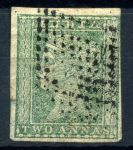Индия(брит.) 1854г. GB# 31 / 2a. / Used XF кат.- £40.00