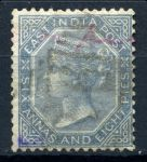 Индия(брит.) 1867г. GB# 72 / 2a.8p. / Used VF кат.- £30.00