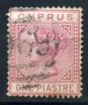 КИПР 1881г. SC# 12 / 1pi. / USED F-VF / QV