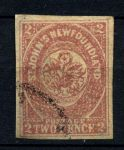 НЬЮФАУНДЛЕНД 1861г. GB# 17 / 2d. / USED XF / ФЛОРА