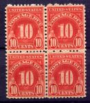 США 1931г. SC# J 84 / 10c. / UNUSED VF кв. блок