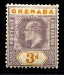 ГРЕНАДА 1902г. GB# 61 / 3d. MH OG VF