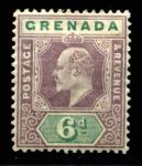 ГРЕНАДА 1902г. GB# 62 / 6d. MH OG VF