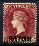 СТ. ВИНСЕНТ 1893г. GB# 60a / 5d./6d. MH OG VF