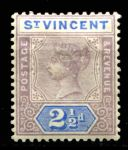 СТ. ВИНСЕНТ 1899г. GB# 69 / 2 1/2d. MH OG VF