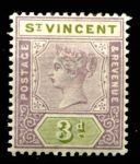 СТ. ВИНСЕНТ 1899г. GB# 70 / 3d. MH OG VF