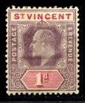 СТ. ВИНСЕНТ 1902г. GB# 68 / 1d. MH OG VF