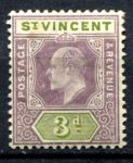 СТ. ВИНСЕНТ 1902г. GB# 69 / 3d. MH OG VF