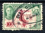 НЬЯСАЛЭНД 1945г. GB# 156 / 10s. USED F-VF / КАРТЫ