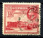 КИПР 1934г. GB# 137 / 1 1/2pi. USED F-VF / АРХИТЕКТУРА