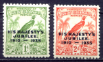 НОВАЯ ГВИНЕЯ 1935г. GB# 206-7 / 2s. MH OG VF / ЮБИЛЕЙ / ФАУНА