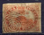 КАНАДА 1852-7г. GB# 8 / 3d. USED VF / ФАУНА