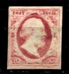 НИДЕРЛАНДЫ 1852г. SC# 2 / 10c. / UNUSED VF