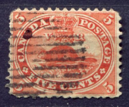 КАНАДА 1859г. GB# 31 / 5c. USED F-VF / ФАУНА