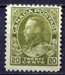 КАНАДА 1911-25гг. SC# 119 / 20c. / UNUSED  F-VF