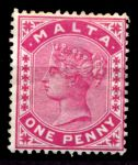 МАЛЬТА 1885-90гг. GB# 22 / 1d. / MH OG F-VF