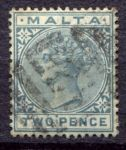 МАЛЬТА 1885-90гг. GB# 23 / 2d. / USED F-VF