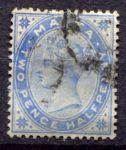 МАЛЬТА 1885-90гг. GB# 26 / 2 1/2d. / USED F-VF