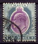 МАЛЬТА 1904-14гг. GB# 50 / 2d. / USED F-VF