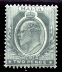 МАЛЬТА 1904-14гг. GB# 51 / 2d. / MH OG F-VF