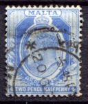 МАЛЬТА 1904-14гг. GB# 53 / 2 1/2d. / USED F-VF