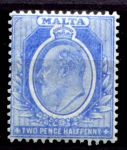 МАЛЬТА 1904-14гг. GB# 53 / 2 1/2d. / MH OG F-VF