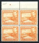 КИПР 1938-51гг. GB# 154 / 1pi. MNH OG VF кв. блок