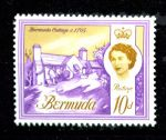 БЕРМУДА 1966-9гг. GB# 197 / 10d. MNH OG VF / АРХИТЕКТУРА