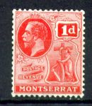 МОНТСЕРРАТ 1922-9гг. GB# 66 / 1d. MH OG VF