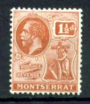 МОНТСЕРРАТ 1922-9гг. GB# 68 / 1 1/2d. MH OG VF