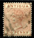 АНТИГУА 1882г. GB# 22 / 2 1/2d. USED VF