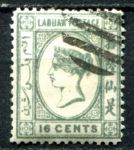 ЛАБУАН 1892-3гг. GB# 46 / 16c. USED CTO VF