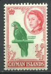 КАЙМАНОВЫ О-ВА 1962-4г. GB# 165 / 1/4d. MNH OG VF / ФАУНА