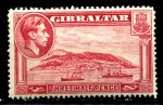 ГИБРАЛТАР 1938-51гг. GB# 123 / 1 1/2d. MLH OG VF / КОРАБЛИ