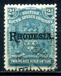 РОДЕЗИЯ 1909-12гг. GB# 103 / 2 1/2d. USED VF