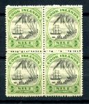 КУКА О-ВА 1932г. GB# 99 / 1/2d. MNH OG VF кв. блок / КОРАБЛИ