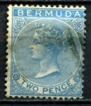 БЕРМУДА 1865-1903гг. GB# 4 / 2d. USED VF