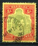 БЕРМУДА 1938-53гг. GB# 118 / 5s. USED VF