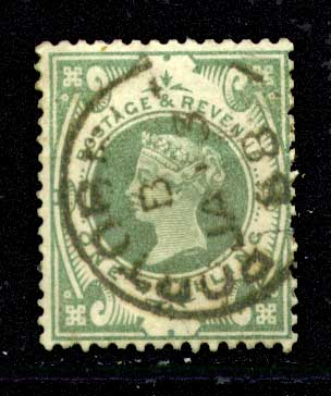 АНГЛИЯ 1887г. GB# 211 / 1s. USED F-VF