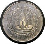 Италия 1940 г. R KM# 78b • 2 лиры • Виктор Эммануил III • орел Римской Империи • регулярный выпуск • UNC-